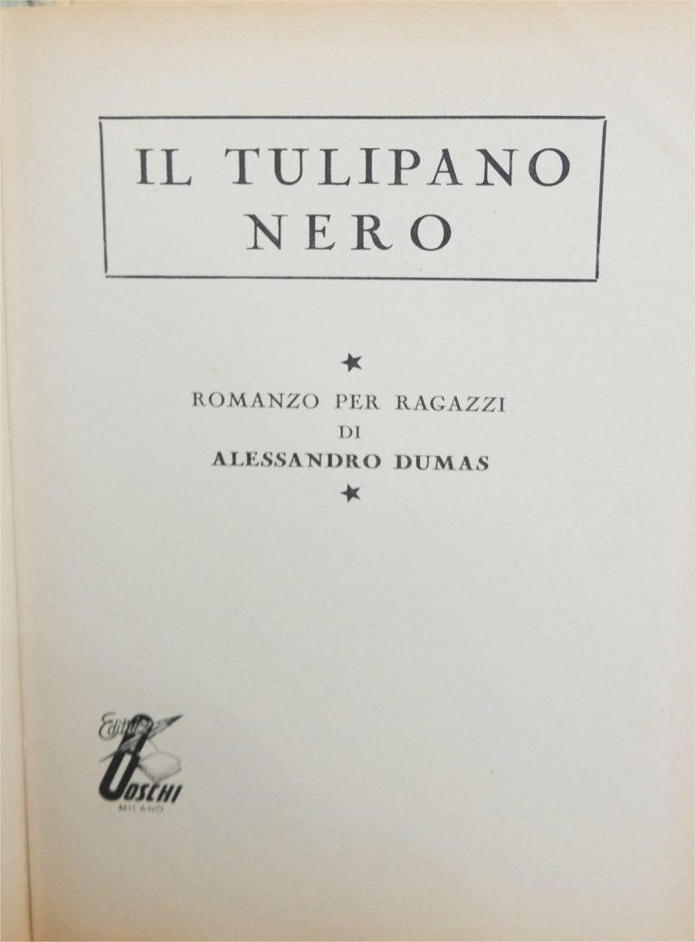 Tulipano nero prima pagina
