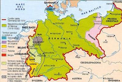 Cartina Repubblica Weimar